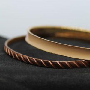 accessoire bracelet vintage duo bronze frip in shop 09