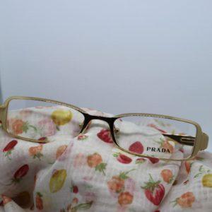 accessoire lunette vintage prada vue doree 26 frip in shop face