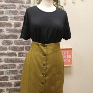 jupe vintage femme boutonnee verdatre frip in shop
