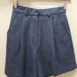 short vintage femme laine bleu chine frip in shop