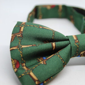 noeud papillon vintage vert sapin cavalier detail frip in shop