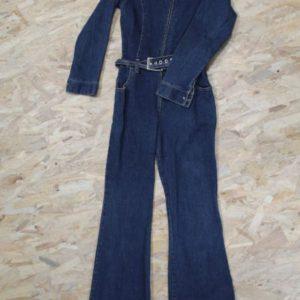 combinaison vintage femme jean bootcut frip in shop