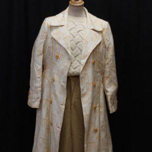 manteau vintage blanc couture orange frip in shop
