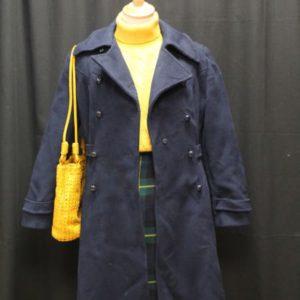manteau vintage bleu marine frip in shop