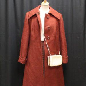 manteau vintage laine bordeaux frip in shop