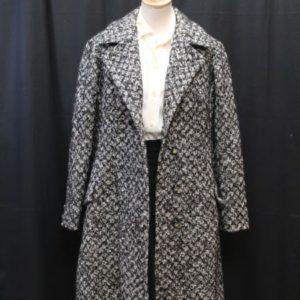 manteau vintage noir et blanc chine frip in shop