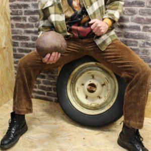 pantalon vintage velours cotele marron ralph lauren mannequin frip in shop