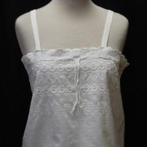 debardeur vintage coton blanc frip in shop