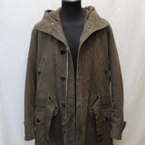 manteau vintage marron gris ceinture taille cerruti frip in shop
