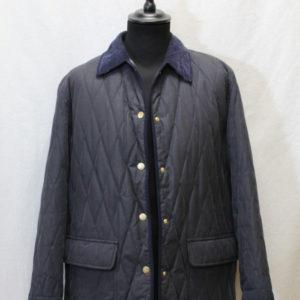 manteau vintage matelasse bleu marine burberry frip in shop