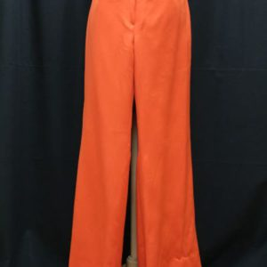 pantalon vintage rouge jambes evasees frip in shop