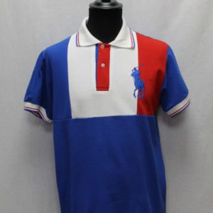 polo sportswear bleu blanc rouge ralph lauren frip in shop