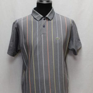polo sportswear gris chine rayures lacoste frip in shop