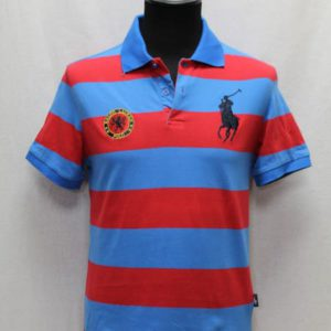 polo sportswear rayures bleues rouges ralph lauren frip in shop
