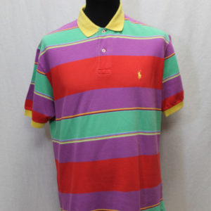 polo sportswear rayures multicolores ralph lauren frip in shop