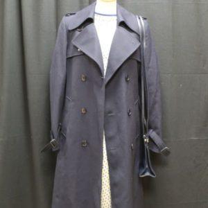 trench vintage femme bleu marine laine frip in shop