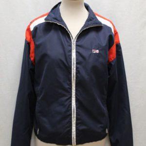veste sportswear bleu marine blanc rouge fila frip in shop