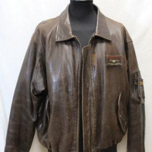veste vintage cuir marron redskins frip in shop