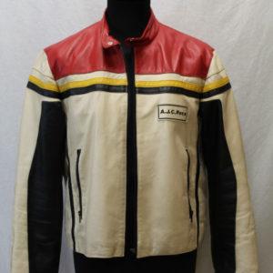 veste vintage cuir moto arizona frip in shop