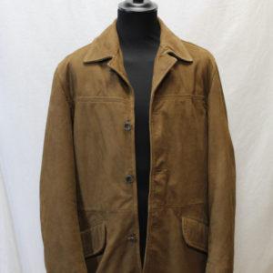 veste vintage mi longue cuir marron marlboro classics frip in shop