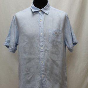 chemise manches courtes homme bleu ciel gant frip in shop