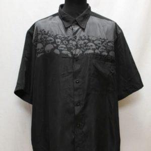 chemise rock noir tete de mort harley davidson frip in shop