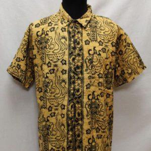 chemise vintage africain marron noir frip in shop