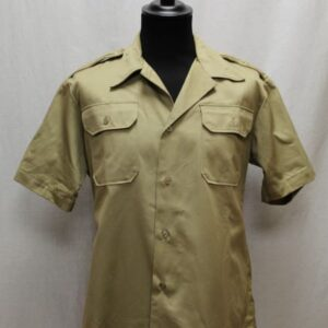 chemise vintage militaire beige frip in shop