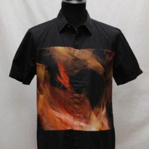 chemise vintage noir decor peinture frip in shop