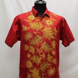 chemise vintage rouge ocre esprit japon frip in shop