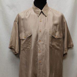 chemise vintage soie marron glace frip in shop