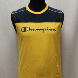 debardeur sportswear jaune bleu marine champion frip in shop