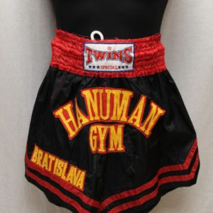 short sportswear boxe thai rouge jaune noir frip in shop