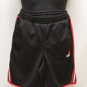 short sportswear noir bandes rouges blanches adidas frip in shop