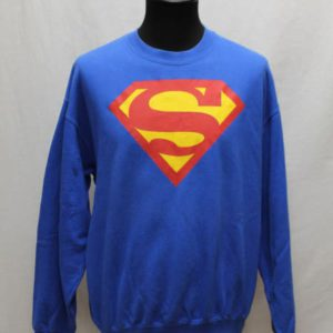 sweat bleu electrique superman frip in shop