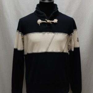 sweat bleu marine beige col noeud marina militare frip in shop