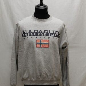 sweat gris napapijri frip in shop