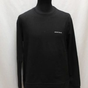 sweat noir armani jeans frip in shop