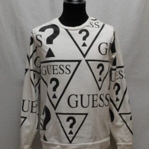 sweat noir blanc guess frip in shop