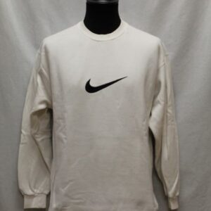 sweat sportswear blanc logo noir nike frip in shop