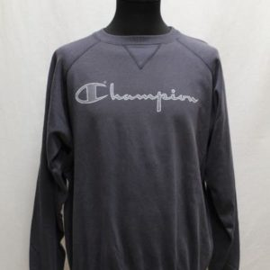 sweat sportswear bleu fonce champion gris frip in shop