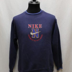 sweat sportswear bleu marine logo rouge bleu nike frip in shop