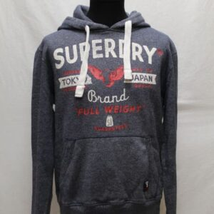sweat sportswear capuche bleu chine superdry frip in shop