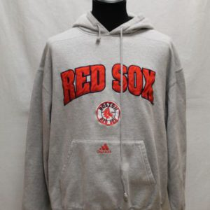 sweat sportswear capuche gris rouge red sox adidas frip in shop