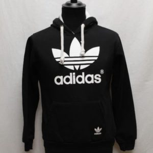 sweat sportswear capuche noir blanc adidas frip in shop