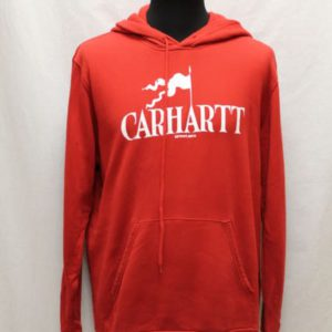 sweat sportswear capuche rouge carhartt frip in shop