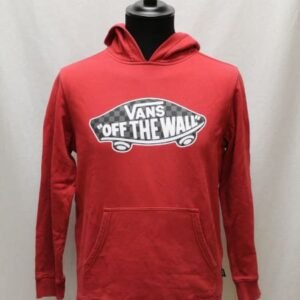 sweat sportswear capuche rouge vans frip in shop