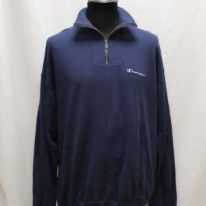 sweat sportswear col zipbleu marine champion frip in shop