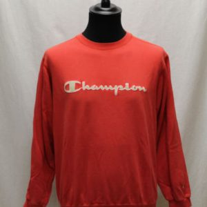 sweat sportswear rouge logo blanc champion frip in shop