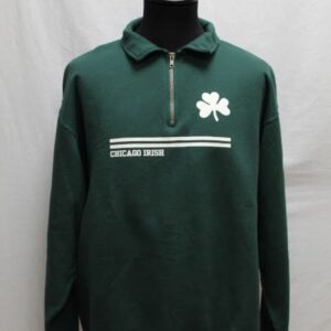 sweat sportswear vert sapin blanc irish side frip in shop